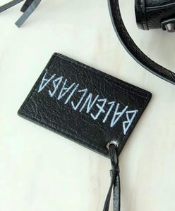 Balenciaga Small Graffiti Classic City Shoulder Bag Black