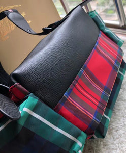 Burberry The Large Rucksack in Patchwork Tartan Green