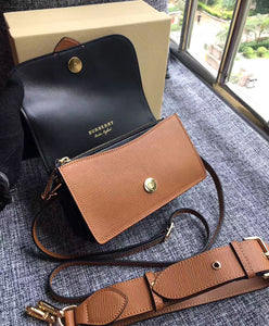 Burberry The Small Buckle Bag in House Check and Leather Light Coffee