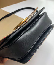 Burberry Small D-Ring Cross Body Bag Black