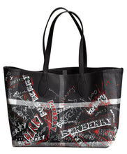 Burberry The Medium Reversible Doodle Tote Black