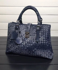 Bottega Veneta Roma Bag In Barolo Intrecciato Calf 2 colors