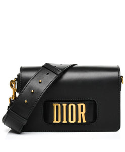Christian Dior Flap bag with slot handclasp Black