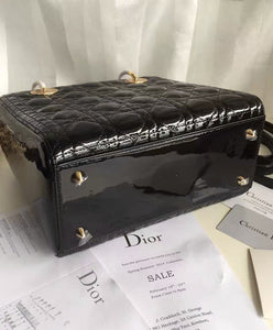 Christian Dior Lady Dior Medium Patent Leather Handbag 7 colors