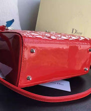 Christian Dior Lady Dior Medium Patent Leather Handbag 5 colors