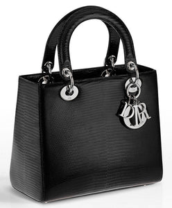 Christian Dior Lady Dior Mini Classic Tote Bag With Lambskin Black