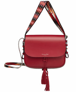 Christian Dior Diorodeo Flap Bag Red