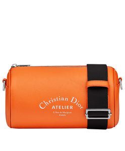 "Christian Dior ""ROLLER"" Pouch Grained Calfskin Orange"