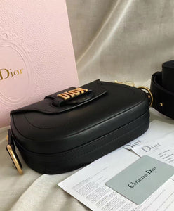 Christian Dior Bag Women's Medium D-fence Leather Saddle Bag 4 colors