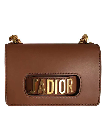 Christian Dior J'ADIOR Flap Bag With Chain In Calfskin Coffee