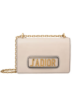 Christian Dior J'ADIOR Flap Bag With Chain In Calfskin L Pink