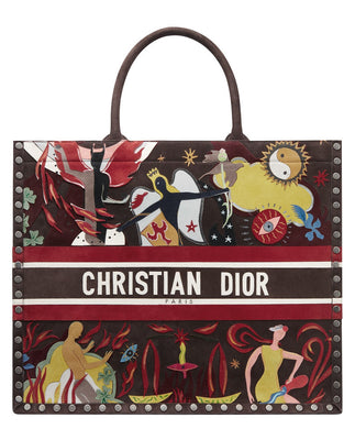 Christian Dior Book Tote Bag Coffee