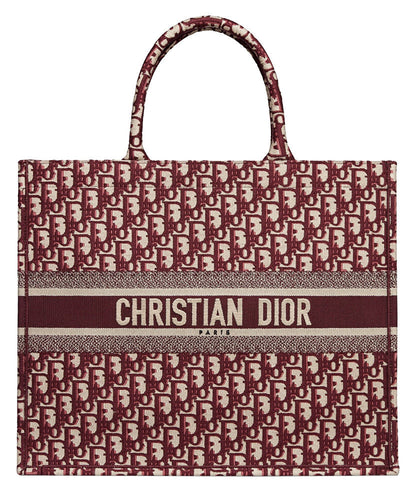 Christian Dior Book Tote Bag Red