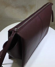 Celine Clutch On Chain Tri-fold Shoulder Bag Mauve
