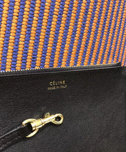 Celine Small Twisted Cabas In Woven Textile Orange