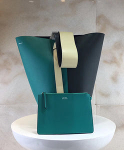 Celine Small Twisted Cabas Light Green
