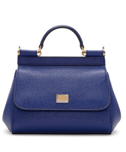 Dolce & Gabbana Small Dauphine Leather Sicily Bag 20cm Blue - hn4us
