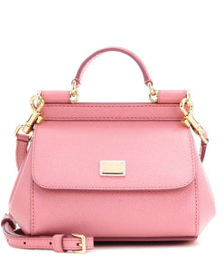 Dolce & Gabbana Small Dauphine Leather Sicily Bag 20cm Pink - hn4us
