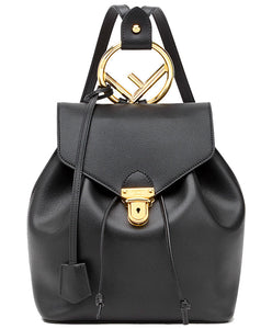 Fendi Leather Backpack Black