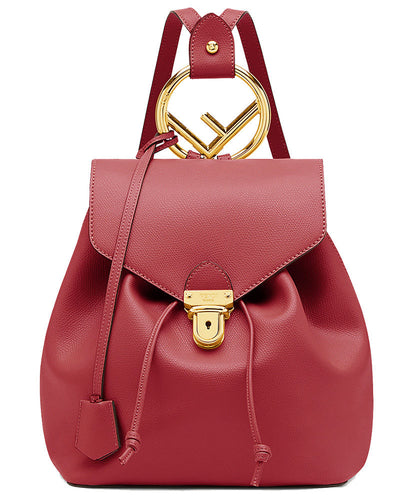 Fendi Leather Backpack Red