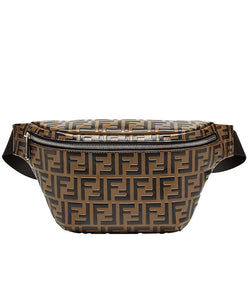 Fendi FF Embossed Belt Bag Coffee