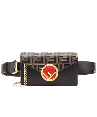 Fendi Multicolour Leather Belt Bag Black