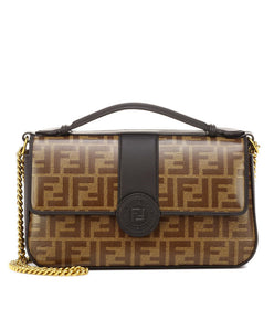 Fendi Double F Leather Bag Black