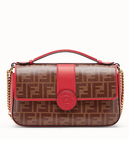 Fendi Double F Leather Bag Red