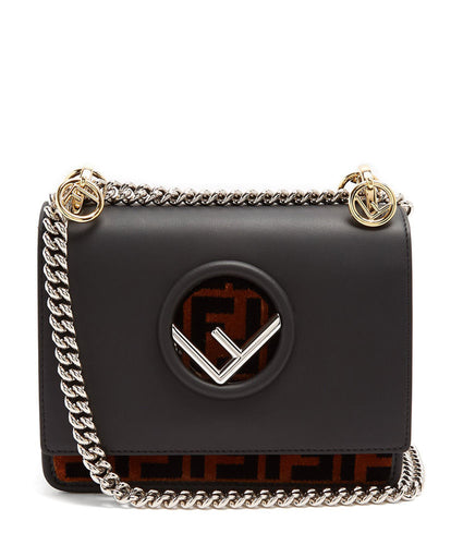 Fendi Small Kan I F Bag Black