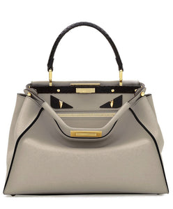 Fendi Peekaboo Regular Exotic white leather bag