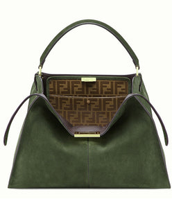 Fendi Peekaboo X-lite Suede Bag Green