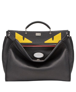 Fendi PEEKABOO In Black Roman Leather