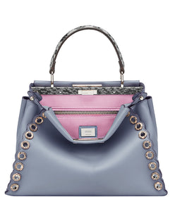 Fendi Peekaboo Regular Exotic leather bag 3 colors