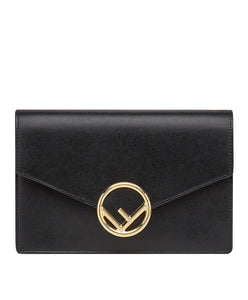 Fendi Wallet On Chain Leather Mini-Bag Black