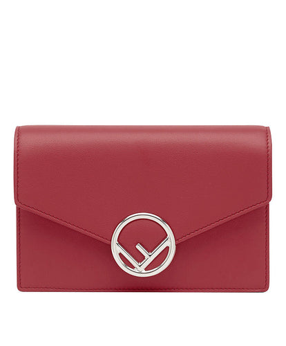 Fendi Wallet On Chain Leather Mini-Bag Red