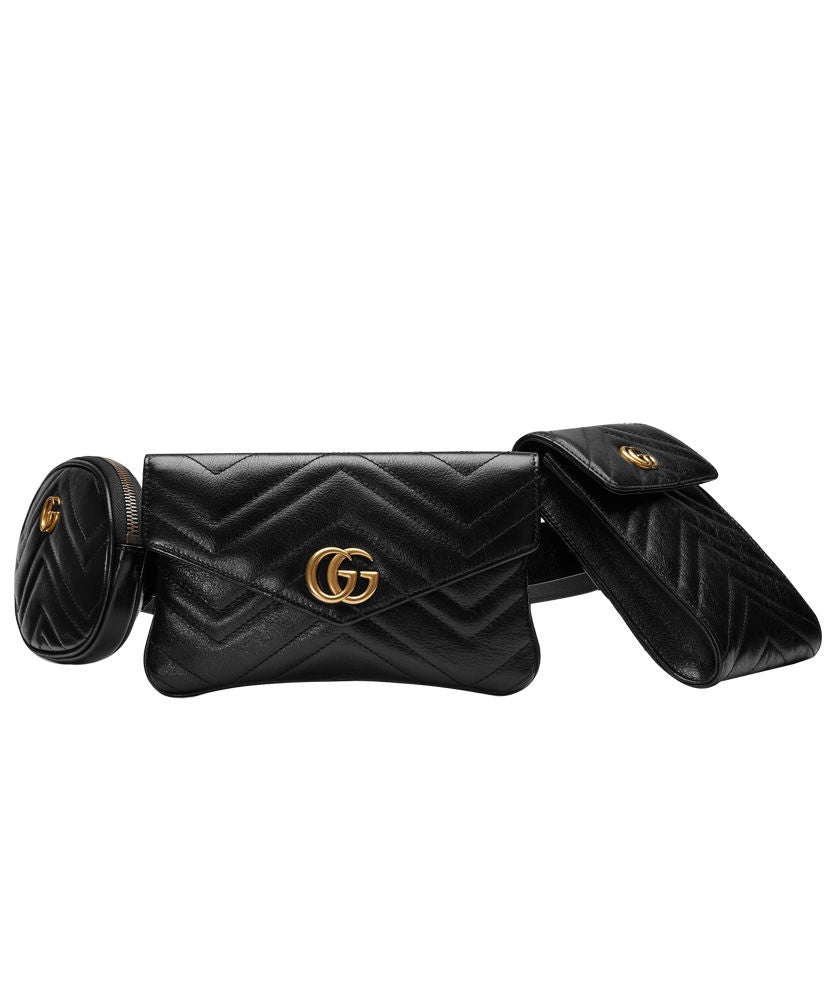 c189a0ef9536 ... Gucci GG Marmont Matelasse Belt Bag Black - hn4us ...