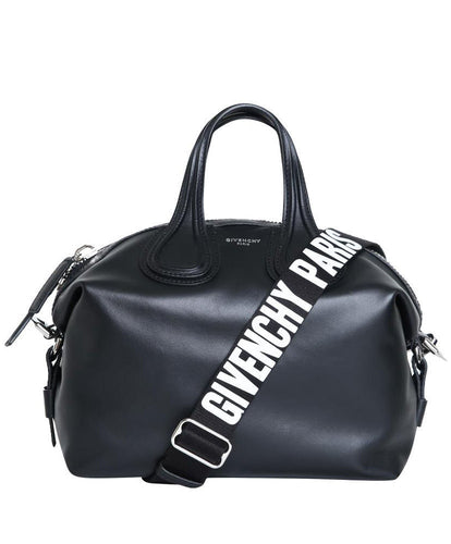 Givenchy Leather Small Nightingale Satchel Bag Black