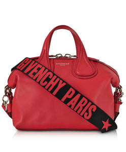 Givenchy Leather Small Nightingale Satchel Bag Red