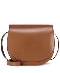 Givenchy Infinity Saddle Leather Shoulder Bag Coffee