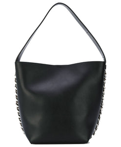 Givenchy Infinity Bucket leather tote Black