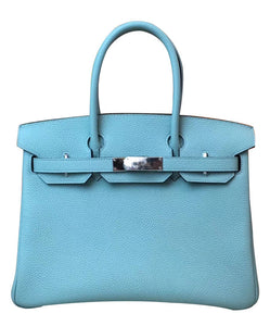 Hermes Birkin 30 Togo Leather Light Blue