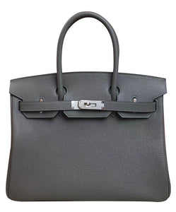 Hermes Birkin 35 Togo Leather Dark Gray