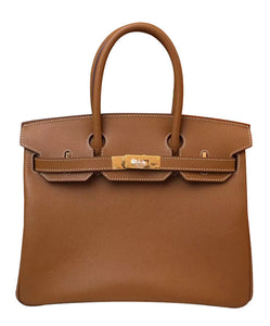 Hermes Birkin 30 Epsom Leather Light Coffee