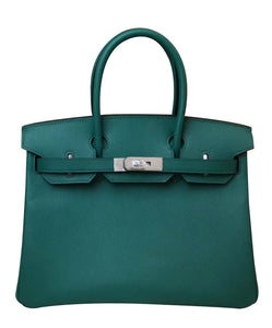 Hermes Birkin 30 Epsom Leather Dark Green
