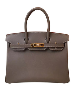 Hermes Birkin 30 Epsom Leather Gray