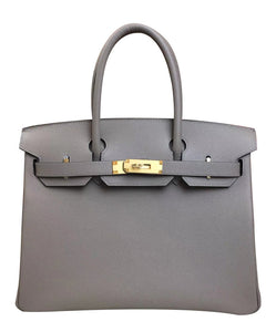 Hermes Birkin 30 Epsom Leather Light Gray