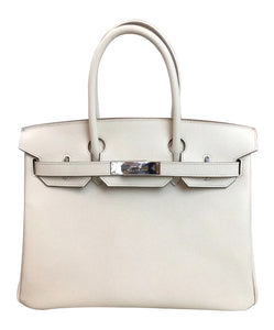 Hermes Birkin 30 Epsom Leather White