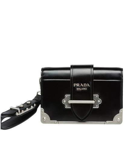 Prada Cahier Leather Clutch Bag 4 colors