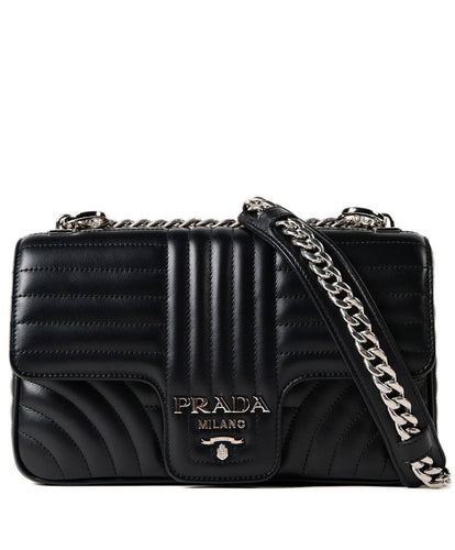 Prada Soft Calf Impunture Shoulder Bag 4 colors