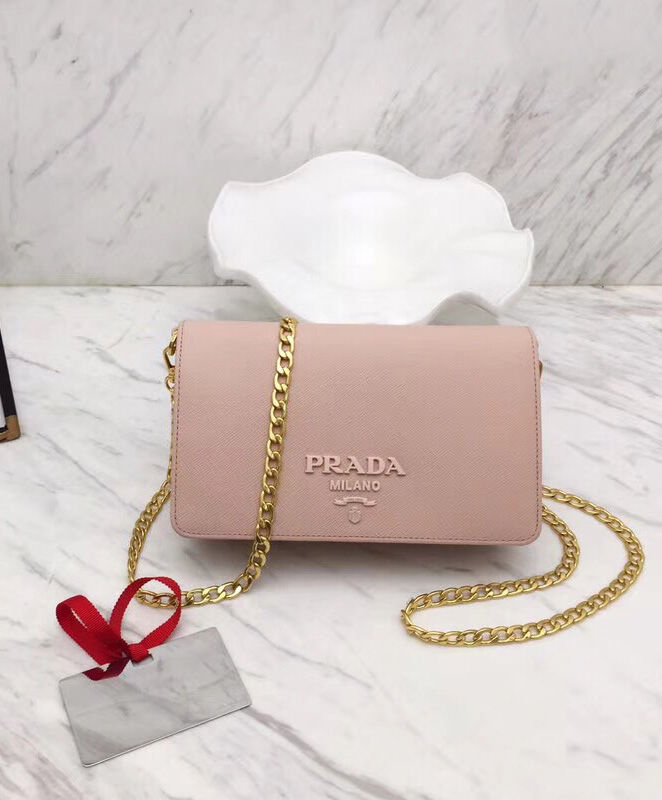 Prada Saffiano Leather Shoulder Bag Pink – q8moda 8c48215e671a4
